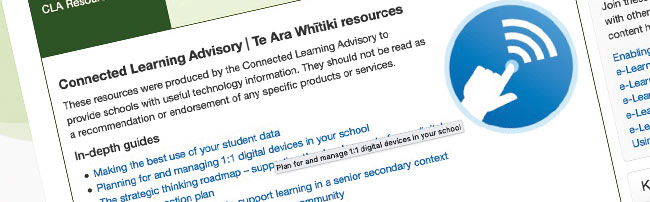 A screen capture of the CLA resources page