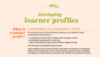 Developing learner profiles
