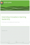 Extending innovative e-learning leadership