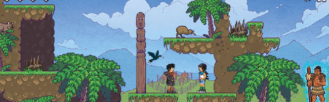 A screen from a game developed by students