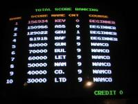 High scores arcade machine