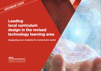 Leading local curriculum design in the revised technology learning area