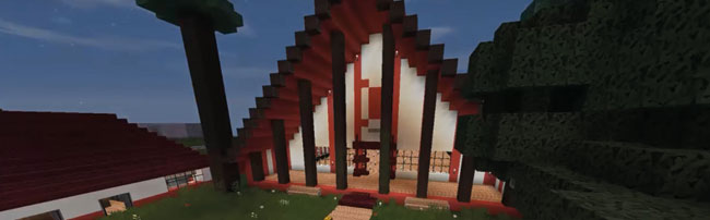 a marae created in minecraft