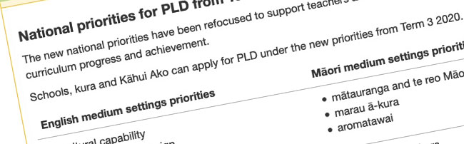 Details from the Ministry PLD page