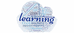 Online learning word cloud