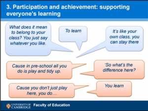 Participation and achievement: supporting everyone's learning