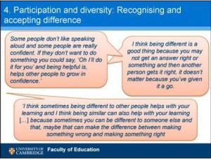 Participation and diversity: recognising and accepting difference