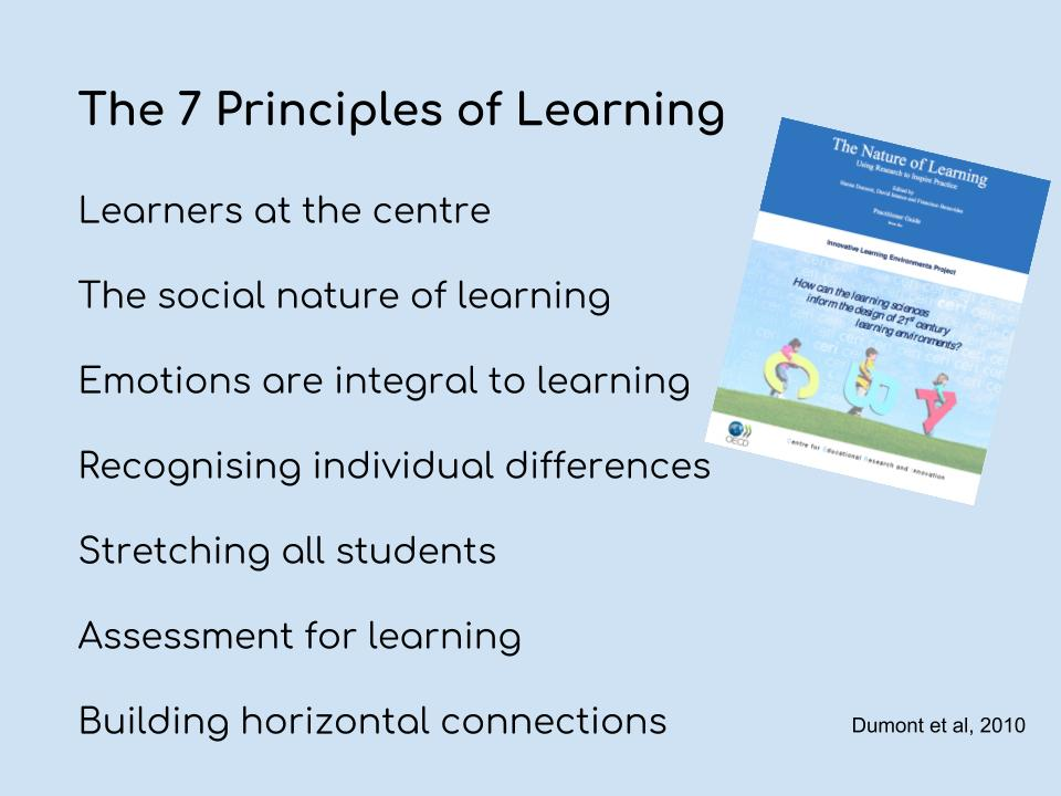 The seven principles of learning
