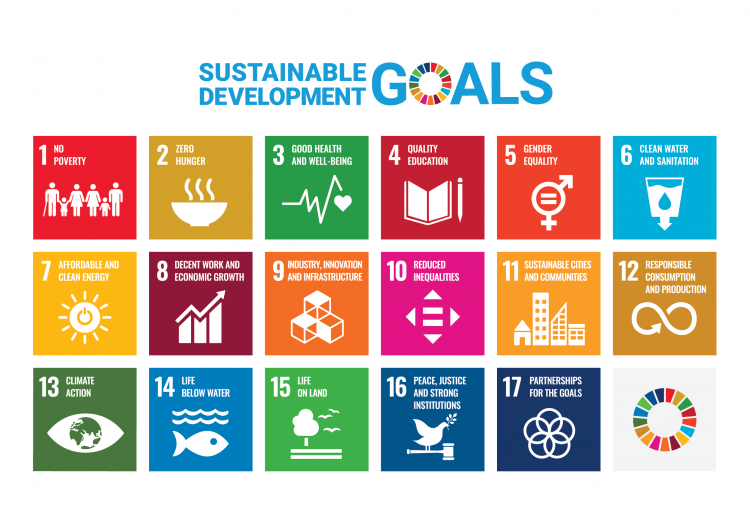 Sustainable Development Goals (SDGs) poster.