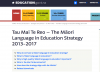 Tau Mai Te Reo – The Māori language in education strategy 2013-2017 screenshot
