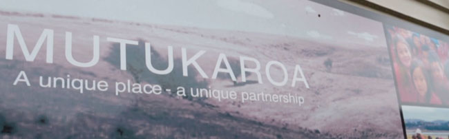 A sign advertising the Mutukaroa project