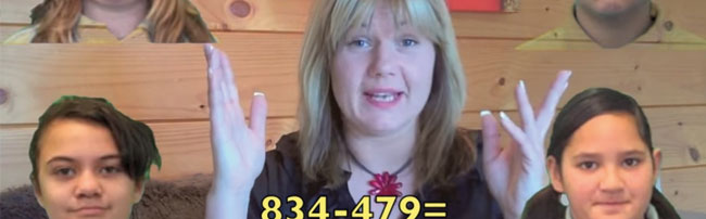 a youtube video of a teacher with maths equation