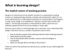 What is learning design?