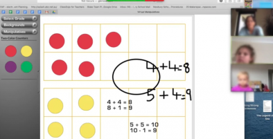 Screenshot of online lesson.